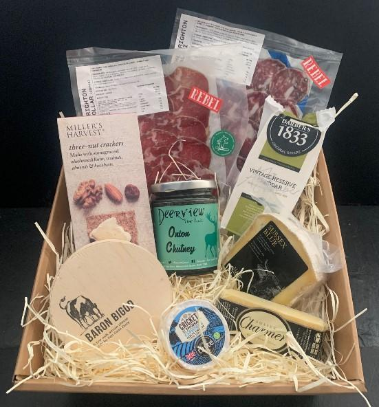 Cheesed To Meat You, cheese and meat hamper