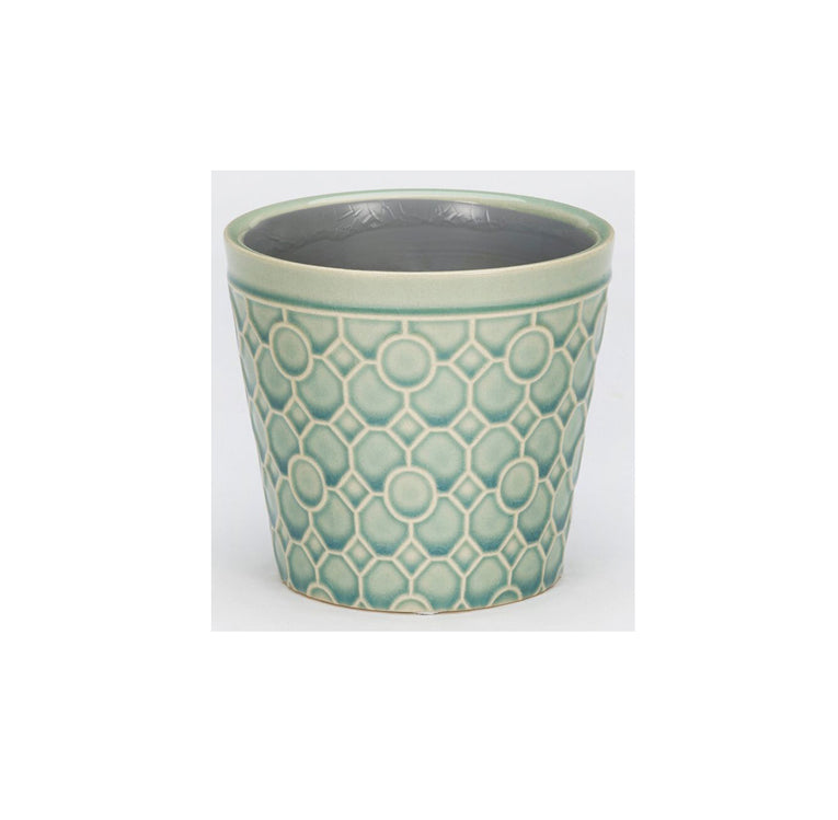 RHS Interiors Lattice Teal Cone