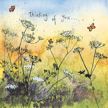 Butterfly Meadow Thinking of You Card By Alex Clark