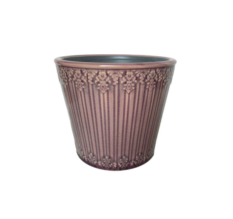 Laura Ashley Indoor Amethyst Edie Cone, ceramic