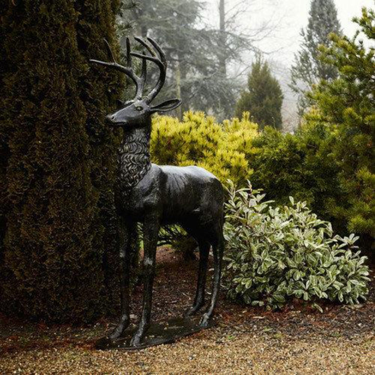 Classic Lifesize Stag in Bronze