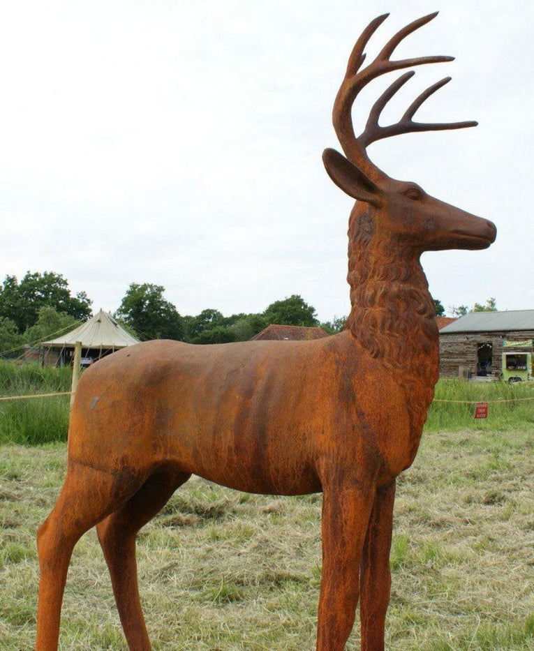 Classic Lifesize Stag in Rust