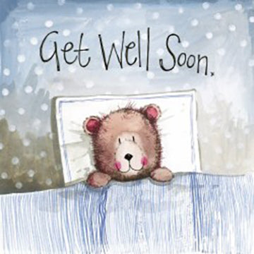 Get Well Soon Bear Card By Alex Clark