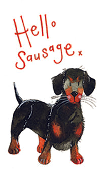 Hello Sausage Notelets By Alex Clark