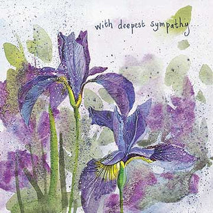 Irises Card By Alex Clark