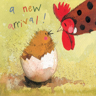 Just Hatched a New Arrival Card By Alex Clark