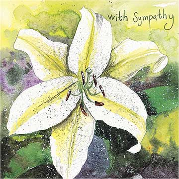 Lily Sympathy Card By Alex Clark