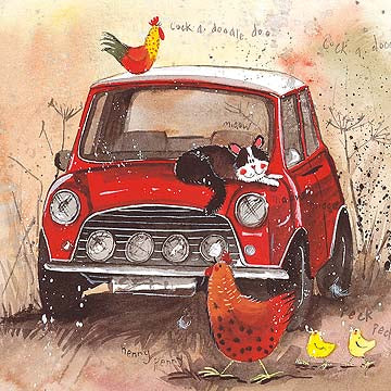 Mini Car Card By Alex Clark