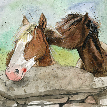 Over The Wall Horse Card By Alex Clark