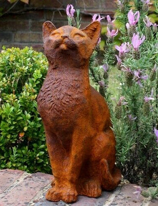 Cast Iron Cat Statue