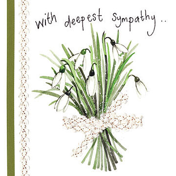 Snowdrop Sympathy Card By Alex Clark