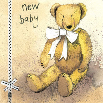 Teddy Bear New Card By Alex Clark