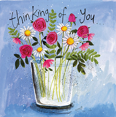 Vase of Flowers Card By Alex Clark