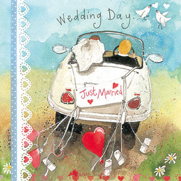 Wedding Day Car Card By Alex Clark
