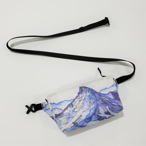 "Watercolor Series - Fanny Pack ""Snow Peak"""