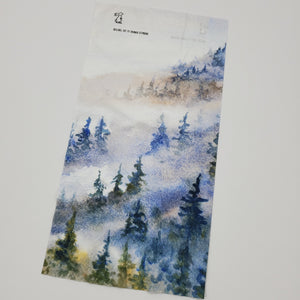 "Watercolor Series - Hiking Gaiter ""Foggy Forest"""
