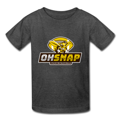 """OHSNAP"" Kids' T-Shirt - heather black"