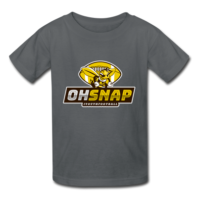 """OHSNAP"" Kids' T-Shirt - charcoal"