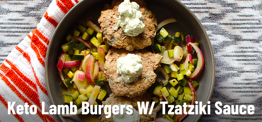 Keto Recipe: Lamb Burgers with Tzatziki Sauce