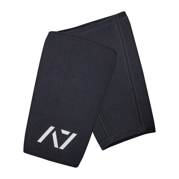 Black CONE Knee Sleeves - USPA & IPF Approved Logo