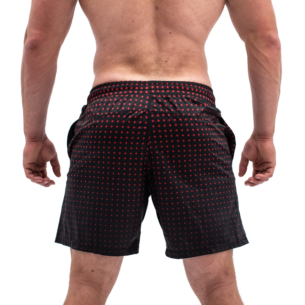 Men's Center-stretch Squat Shorts - Red Engine