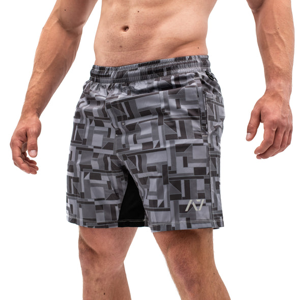 Men's Center-stretch Squat Shorts - Puzzle Camo