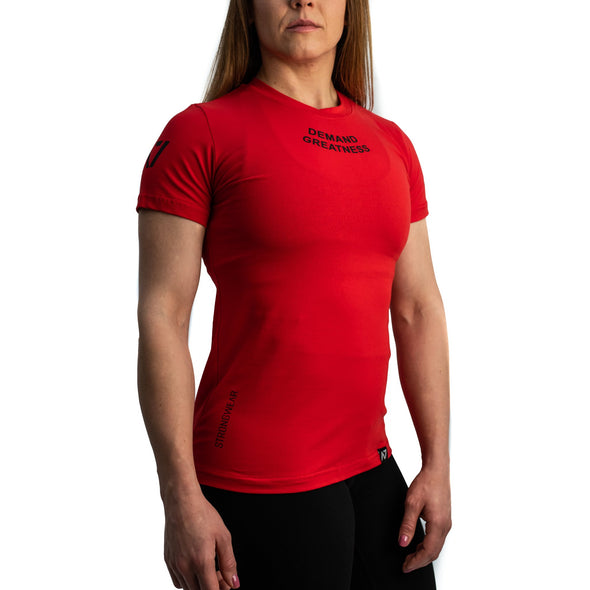 Red IPF Approved Logo Meet Women's Shirt