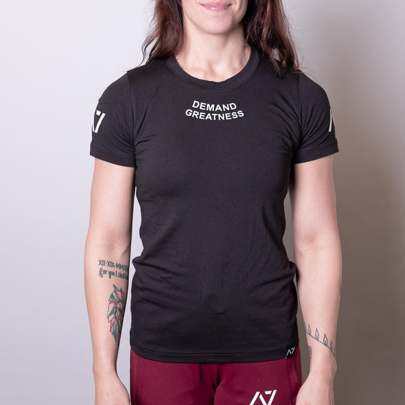 Demand Greatness Women's Meet Shirt - Black