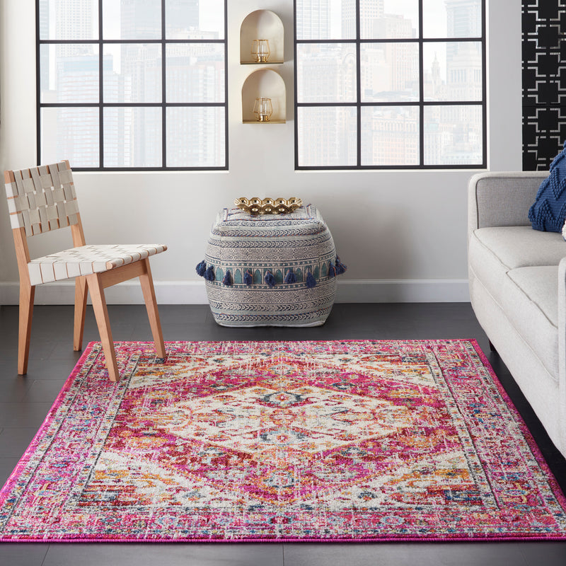 Nourison Passion 5' x 7' Ivory and Pink    Area Rug