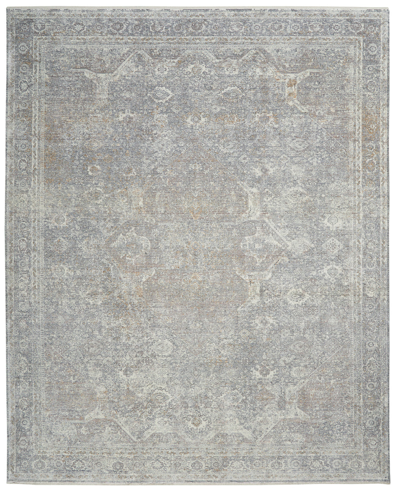 Nourison Starry Nights 8' x 10' Grey and Ivory Vintage   Area Rug