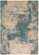 Nourison Maxell MAE13 Blue and White 4'x6'  Area Rug