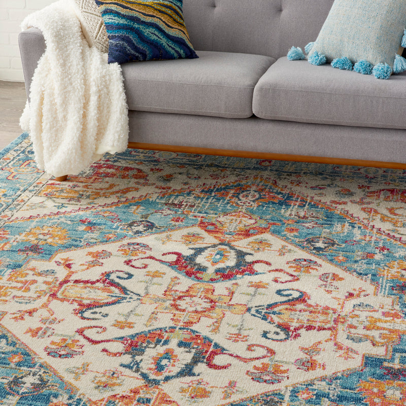 Nourison Passion 8' x 10' Ivory Light Blue    Area Rug