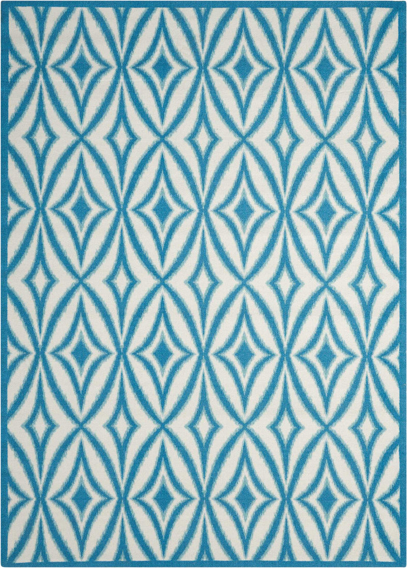 Waverly Sun N Shade SND19 Blue 8'x11'   Rug