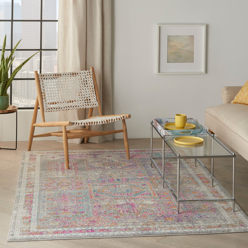 Nourison Passion 4'x6' Grey Multicolor   Area Rug