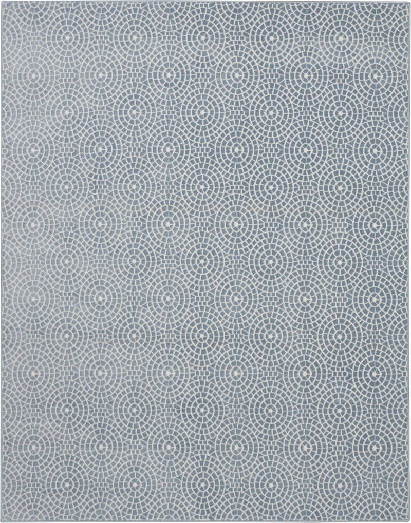 Nourison Urban Chic URC04 Blue 8'x10' Large  Rug