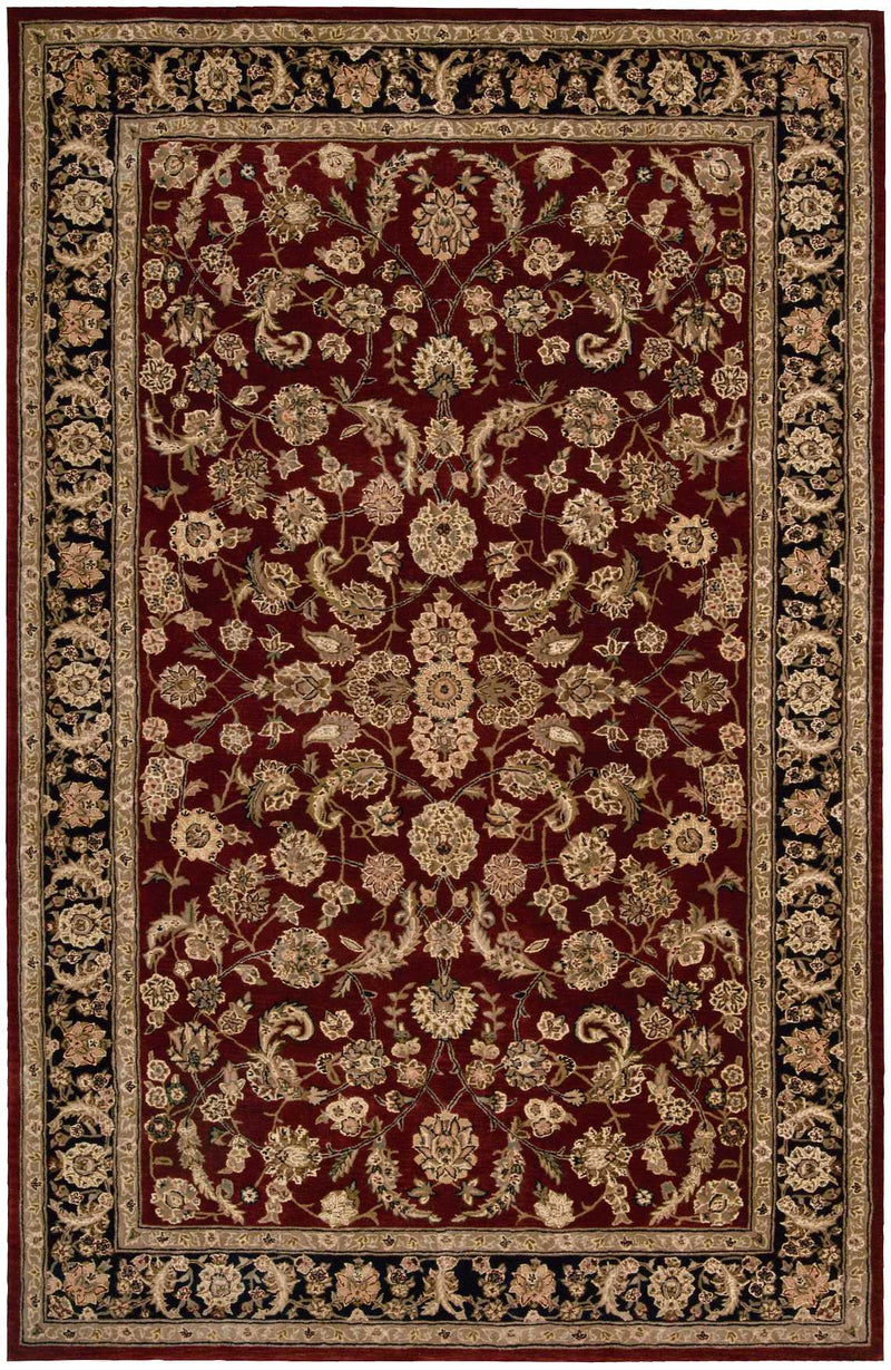 Nourison 2000 2002 Dark Red Multicolor 6'x9'  Area Rug