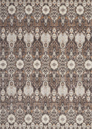 kathy ireland Home Silver Screen KI341 Charcoal and Silver 9'x12' Oversized  Rug