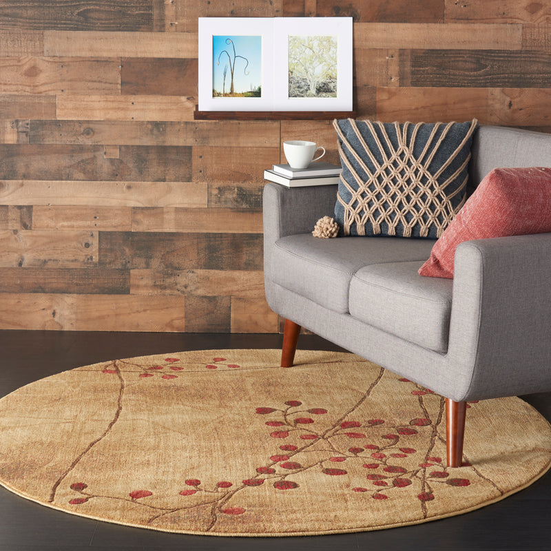 Nourison Somerset ST74 Brown 6' Round  Area Rug