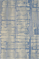 Nourison Symmetry SMM04 Blue and Grey 4'x6'  Area Rug