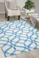 Waverly Sun N Shade SND05 Green 8' Square   Rug