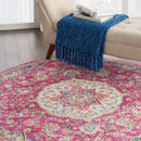 Nourison Passion Bohemian Pink Colored Area Rug