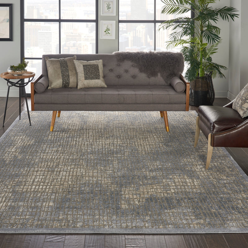 kathy ireland Home Sahara KI395 Charcoal and Beige 9'x13' Oversized  Rug