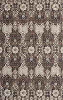kathy ireland Home Silver Screen KI341 Charcoal and Silver 4'x6'  Area Rug