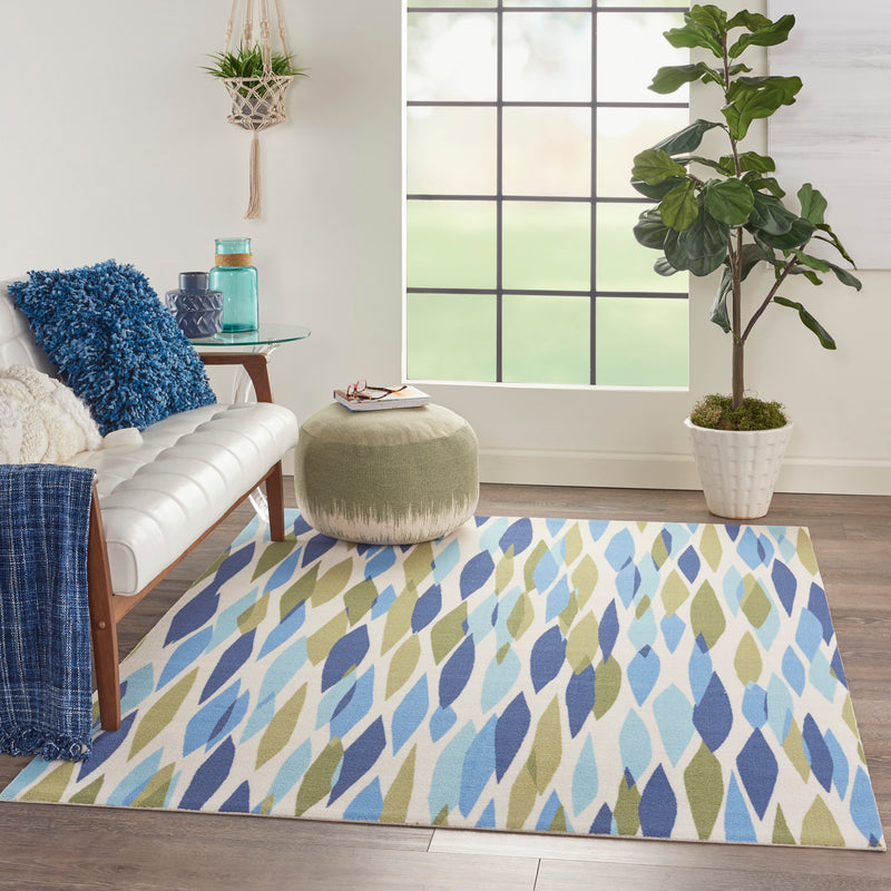 Waverly Sun N Shade SND01 Green 5'x8'  Area Rug