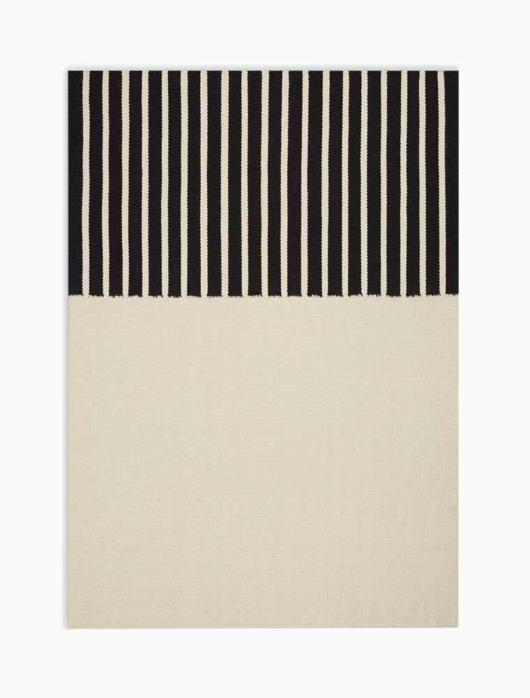 Calvin Klein Nashville CK750 White and Black 4'x6'  Area Rug
