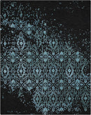 Nourison Opaline OPA06 Black and Blue 10'x14' Oversized  Rug