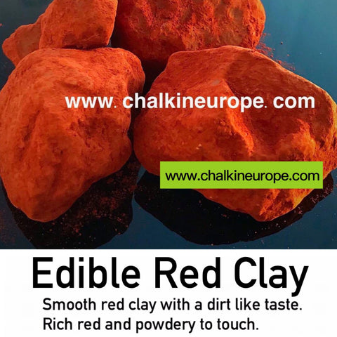 Edible red clay - Chalkineurope