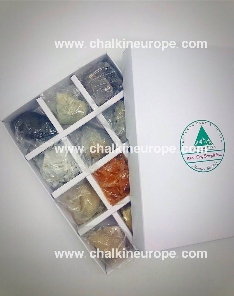 Edible clay samples - Chalkineurope
