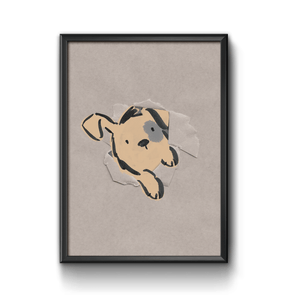 dog character kids art print