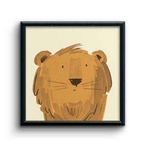 Lion character kids print
